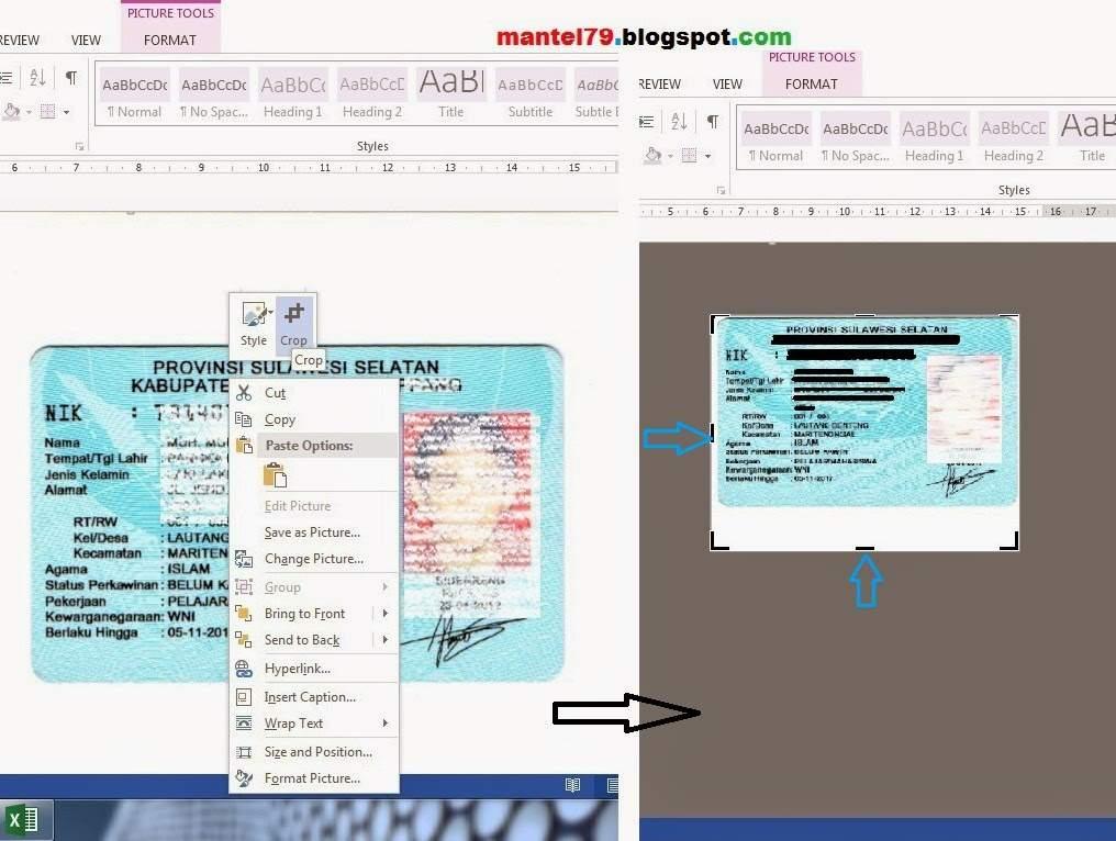Cara mengcrop image agar work area sama besar dengan gambar