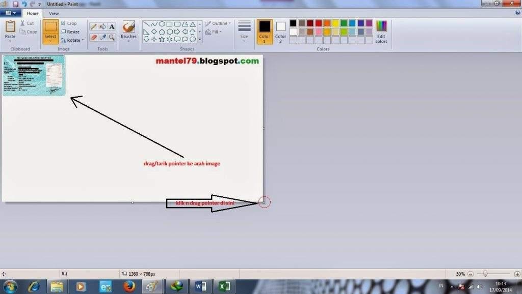 Cara mengkropping gambar pada Paint