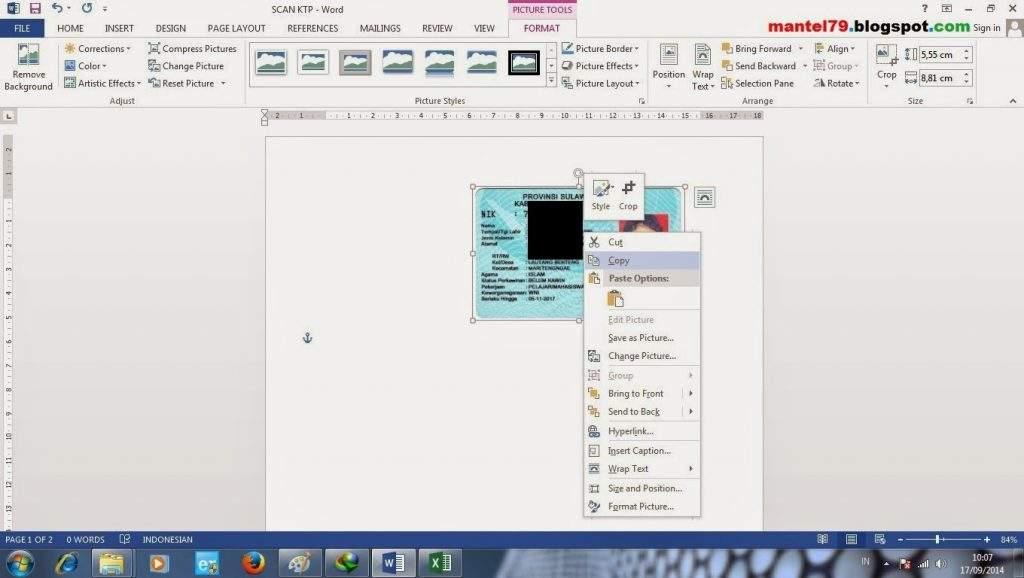 Cara mengcopy gambar dengan klik kanan