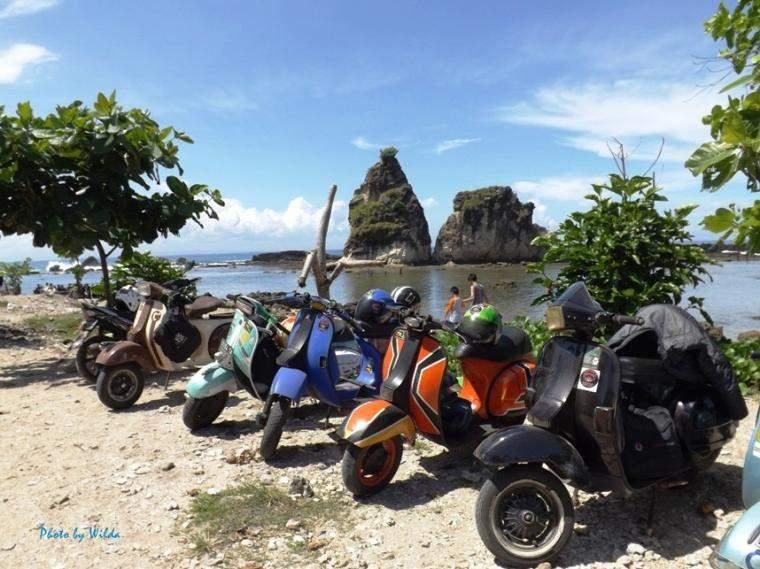 Rute Pantai Sawarna Naik Motor-1